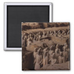 The Army of terra cotta warriors at Emperor Qin 2 Inch Square Magnet