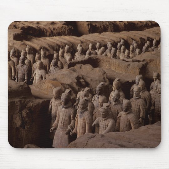 The Army of terra cotta warriors at Emperor Qin Mouse Pad