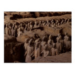 The Army of terra cotta warriors at Emperor Qin Postcard
