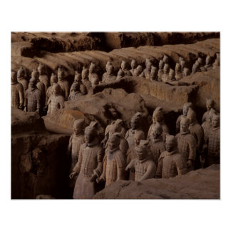 The Army of terra cotta warriors at Emperor Qin Poster