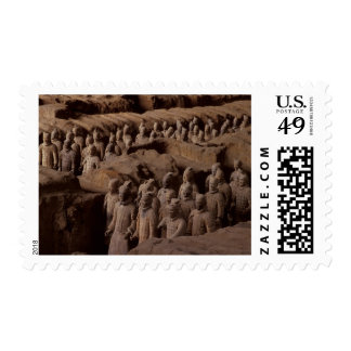 The Army of terra cotta warriors at Emperor Qin Stamp