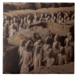 The Army of terra cotta warriors at Emperor Qin Tile