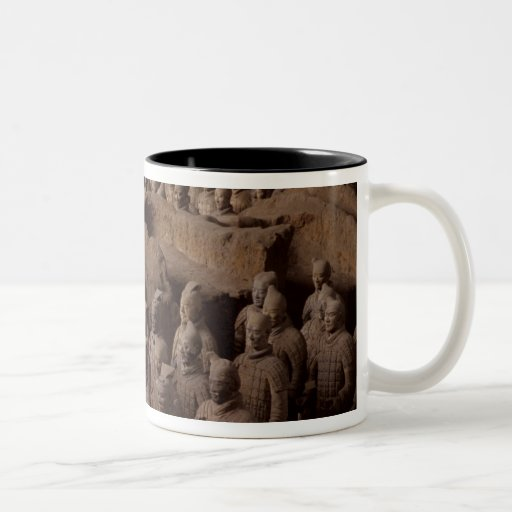 The Army of terra cotta warriors at Emperor Qin Two-Tone Coffee Mug