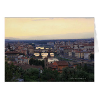 The Arno river and Ponte Vecchio in Florence, Card
