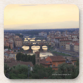 The Arno river and Ponte Vecchio in Florence, Drink Coaster