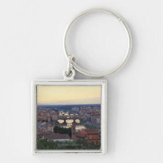 The Arno River and Ponte Vecchio in Florence, Keychain
