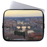The Arno River and Ponte Vecchio in Florence, Laptop Computer Sleeve