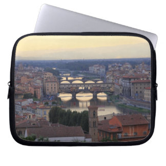 The Arno River and Ponte Vecchio in Florence, Laptop Sleeve