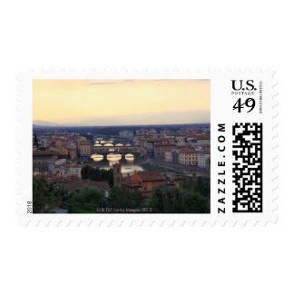 The Arno river and Ponte Vecchio in Florence, Postage