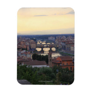 The Arno River and Ponte Vecchio in Florence, Rectangular Photo Magnet
