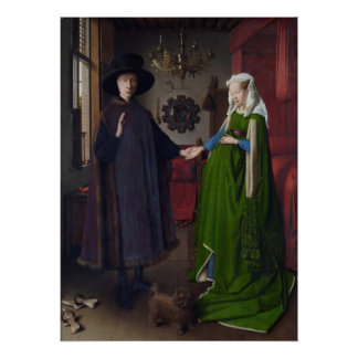 The Arnolfini Marriage (by Jan van Eyck) Poster