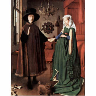 The Arnolfini Portrait The Arnolfini Wedding  By J Standing Photo Sculpture