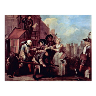"The Arrest For Theft "" By Hogarth William Postcard"