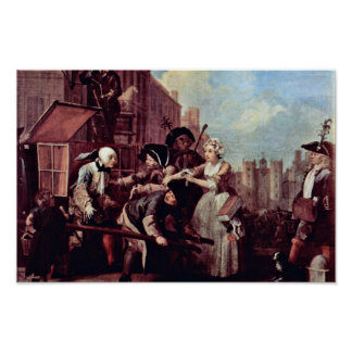"""The Arrest For Theft """" By Hogarth William Poster"""