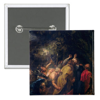 The Arrest of Christ in the Gardens, c.1628-30 Pinback Button