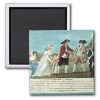 The Arrest of Louis XVI and his family Magnet