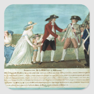 The Arrest of Louis XVI and his family Square Sticker