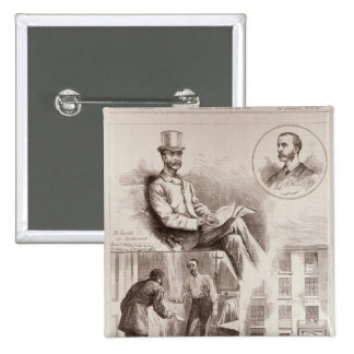 The Arrest of Mr. C.S. Parnell, MP 2 Inch Square Button
