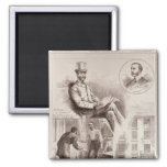 The Arrest of Mr. C.S. Parnell, MP 2 Inch Square Magnet