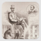 The Arrest of Mr. C.S. Parnell, MP Square Sticker