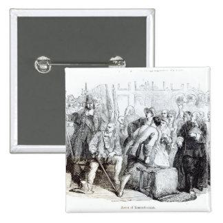 The Arrest of Nonconformists 2 Inch Square Button