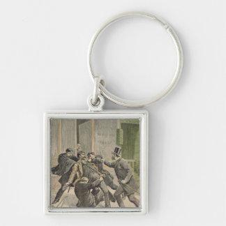 The Arrest of Ravachol Keychain