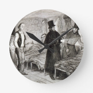 The Arrest of the Boy, plate 4 from 'The Drunkard' Round Clock