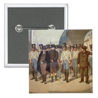 The Arrest of the Carbonari 2 Inch Square Button