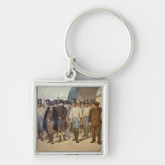 The Arrest of the Carbonari Silver-Colored Square Keychain