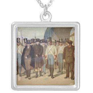 The Arrest of the Carbonari Square Pendant Necklace