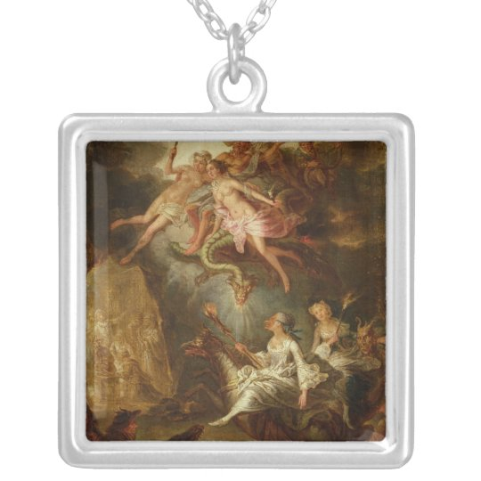 The Arrival at the Sabbath Silver Plated Necklace