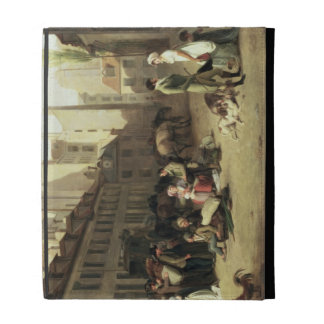 The Arrival of a Stage Coach at the Terminus, deta iPad Folio Covers