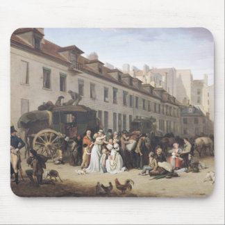 The Arrival of a Stagecoach at the Terminus Mouse Pad