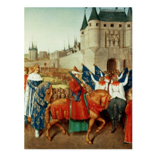 The Arrival of Charles V  in Paris Postcard