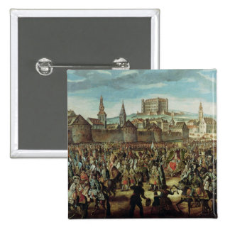 The Arrival of Empress Maria Theresa of Pinback Button