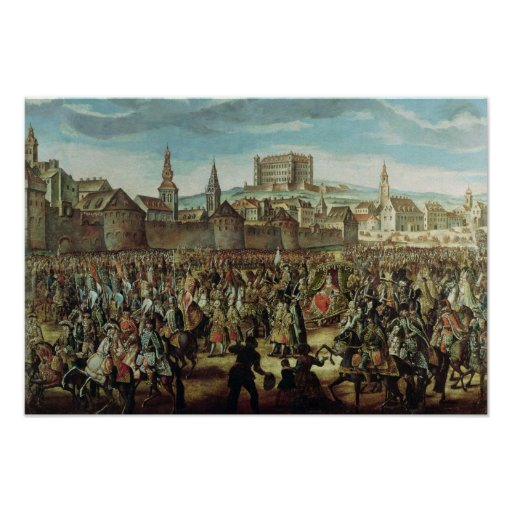 The Arrival of Empress Maria Theresa of Poster