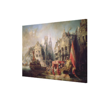 The Arrival of Fernando Alvarez de Toledo, Duke of Canvas Print