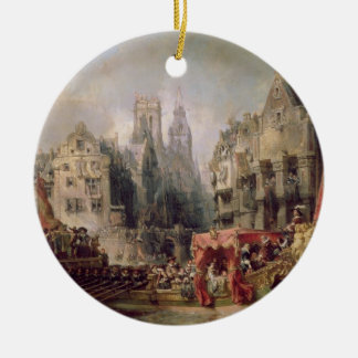 The Arrival of Fernando Alvarez de Toledo, Duke of Ceramic Ornament