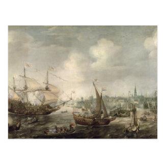 The Arrival of Fredrick V at Vlissingen in 1613 (o Postcard