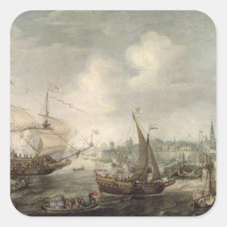 The Arrival of Fredrick V at Vlissingen in 1613 (o Square Sticker