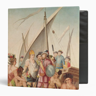 The Arrival of Hernando Cortes  in Mexico 3 Ring Binder