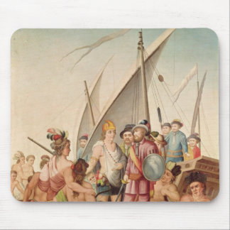 The Arrival of Hernando Cortes  in Mexico Mouse Pad