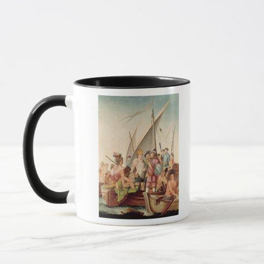 The Arrival of Hernando Cortes  in Mexico Mug