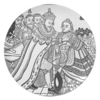 The Arrival of His Majesty Charles (1600-49) Princ Melamine Plate