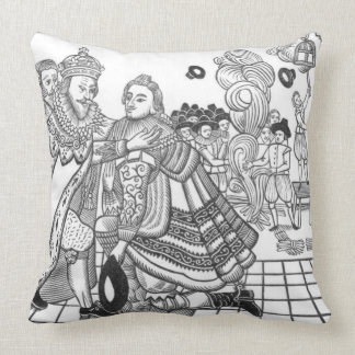 The Arrival of His Majesty Charles (1600-49) Princ Throw Pillows