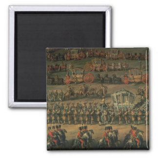 The arrival of Isabella of Parma 2 Inch Square Magnet