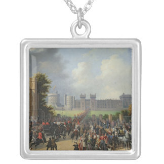 The Arrival of Louis-Philippe  at Windsor Silver Plated Necklace