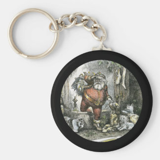 The Arrival of Saint Nicholas Basic Round Button Keychain