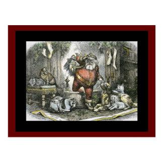 The Arrival of Saint Nicholas Postcard