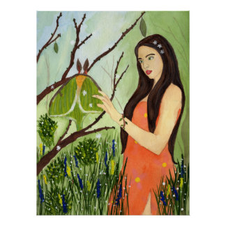 The Arrival of Spring moth maiden nature poster